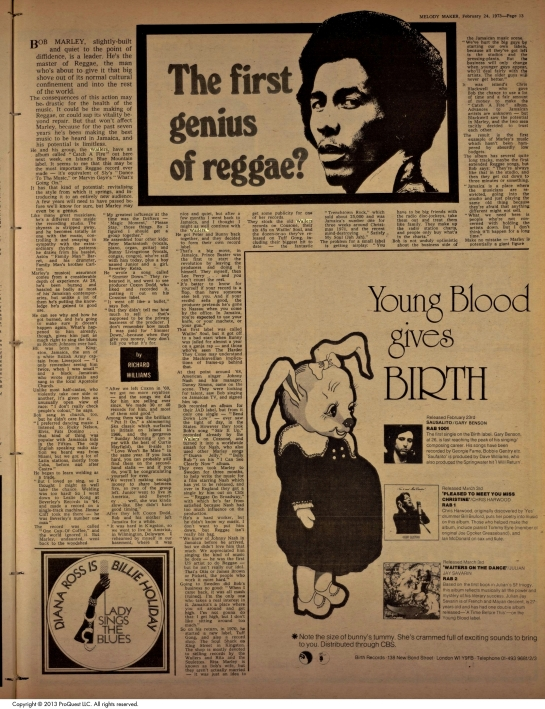1973-02-24 melody maker the king of reggae
