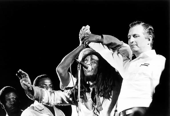 Bob Marley And The Wailers On Stage At One Love Peace Concert C Ebet Roberts