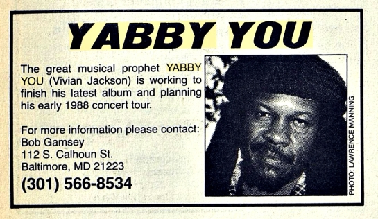 The Reggae & African Beat  (Dec 1, 1987)yabby%2Cyou