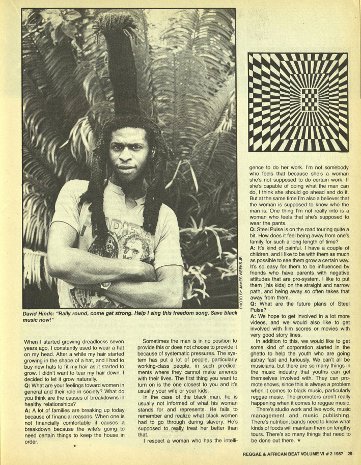 Weeks, James. The Reggae & African Beat (Archive- 1983-1988)6. 2 (Apr 1, 1987)- 26-29-4