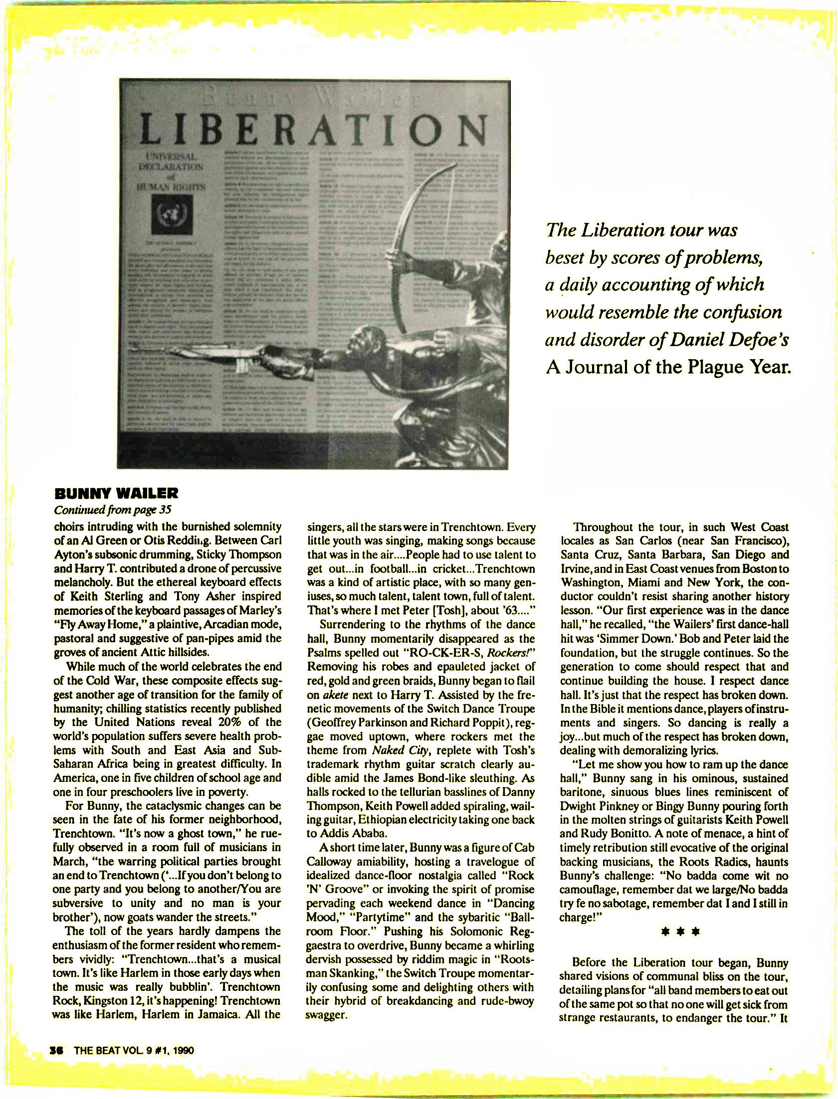 Bunny Wailer Black Vinyl 97