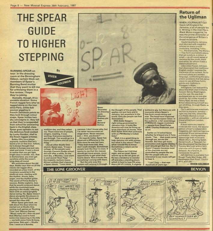 New Musical Express (Feb 28, 1981)spear