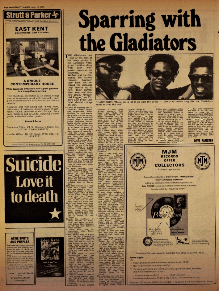 Ramsden, Dave. Melody Maker gladiators(Jun 10, 1978)