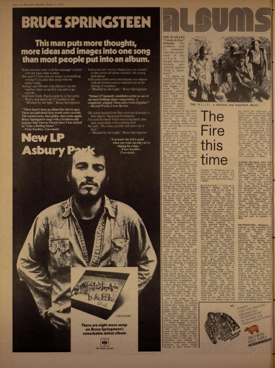Melody Maker catch a fire (Mar 17, 1973)