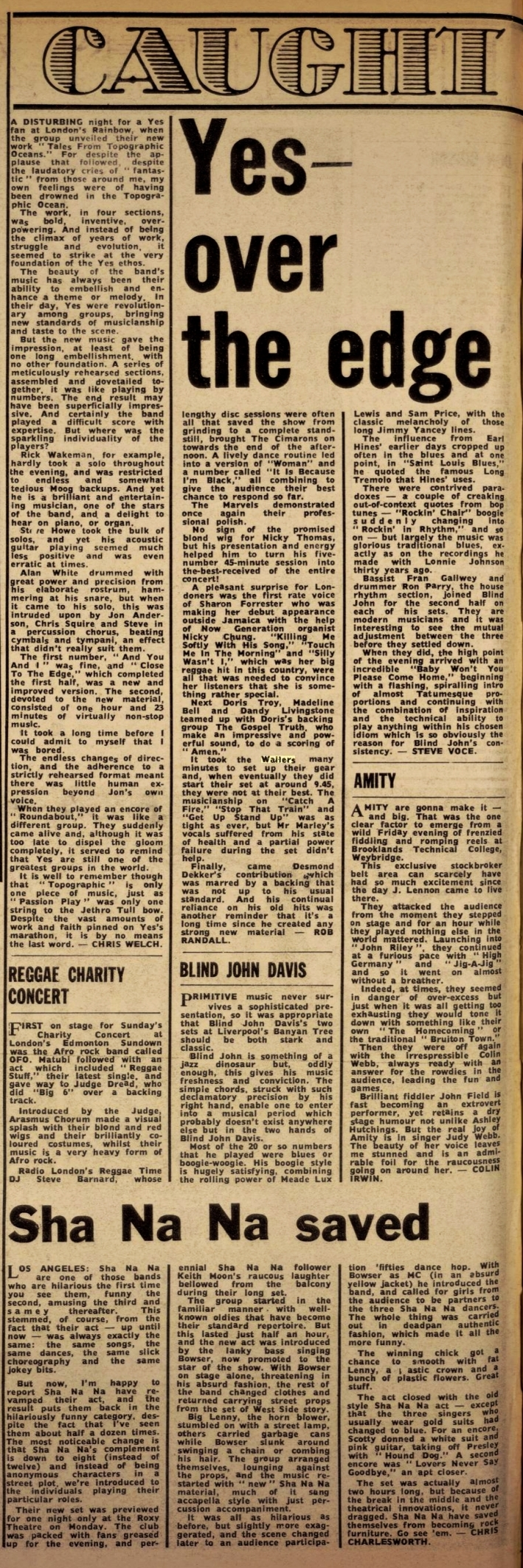 Melody Maker wailers (Dec 1, 1973)