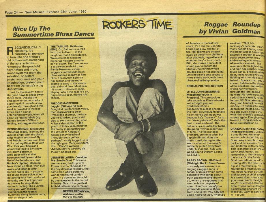 Goldman, Vivian. New Musical Express (Archive- 1952-2000) (Jun 28, 1980)- 24