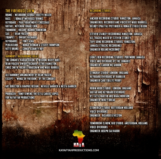 rocky ways cd credits