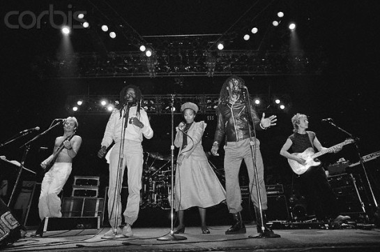 The Police and Black Uhuru Performing on Stage