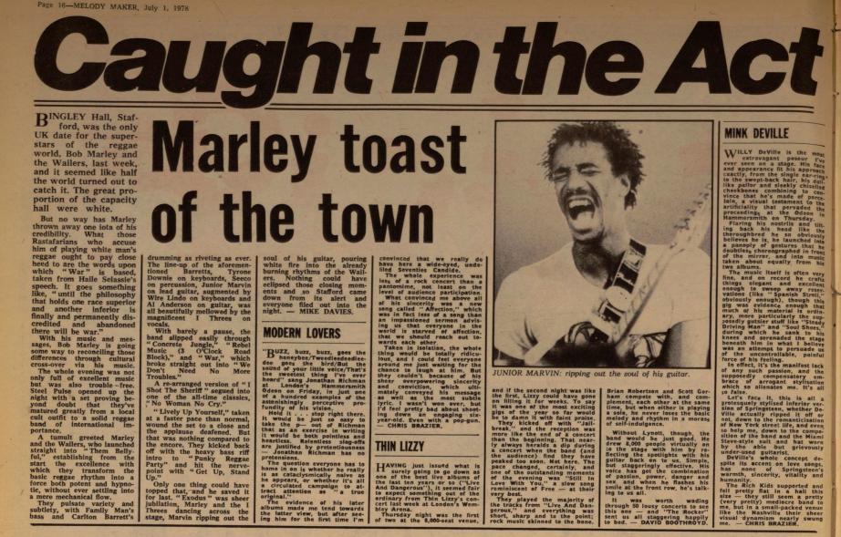 Davies, Mike. Melody Maker (Archive- 1926-2000)53.24 (Jul 1, 1978)- 16.bingleyhall
