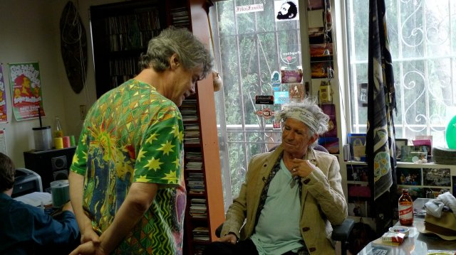 Steffens with Keith Richards at the Reggae Archives