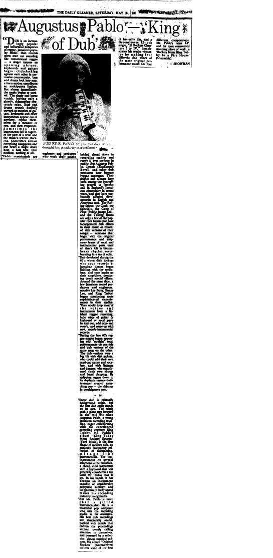 JAMAICA GLEANER 16 MAY 1981