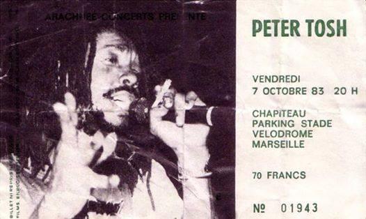 peter tosh ticket marseille