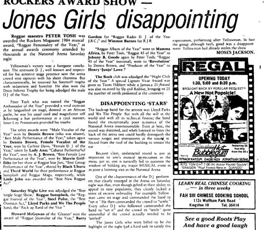 JAMAICA GLEANER, Wednesday, February 1, 1984