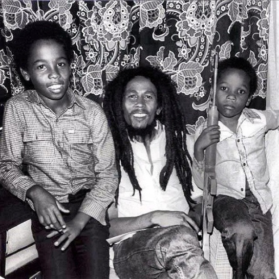 Ziggy, Bob, and Stephen Marley, Zimbabwe, 1980