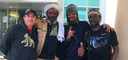 Likle Mystic & Ziggy Blacks arrival at airport with Hakim & Adrien - Photo Fred reGGaeLover 2014