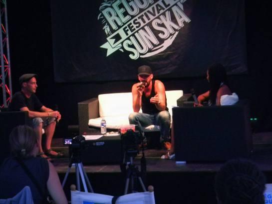 gentleman, reggae sun ska 2013 , press meeting