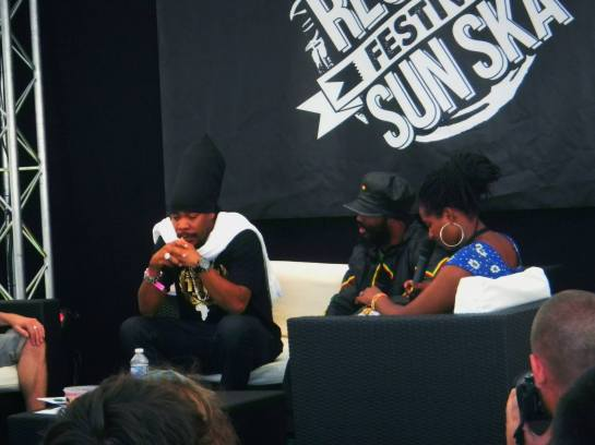 warrior king, turbulence, reggae sun ska 2013 press meeting