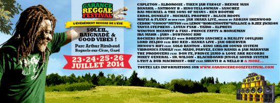garance reggae festival 2014