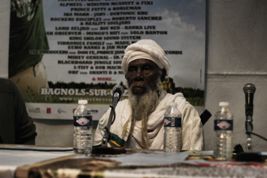 Ras Michael Press Meeting  At Garance Reggae Festival 2014 - Photo : Fred reGGaeLover 2014