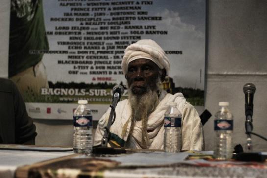 Ras Michael Press Meeting At Garance Reggae Festival 2014 - Photo : Fred reGGaeLover 2014