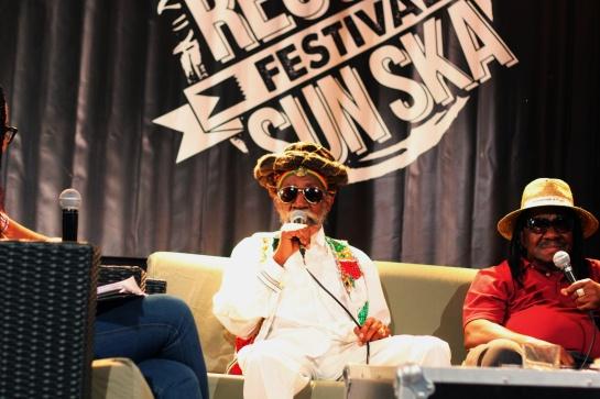 Bunny Wailer & Lester Sterling, Press Meeting at Reggae Sun Ska 2014- Photo Fred reGGaeLover 2014