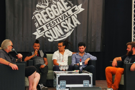 The Wailing Trees, Press Meeting, Reggae Sun Ska 2014