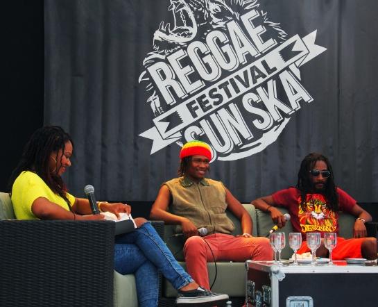 Raging Fyah, Press Meeting , Reggae Sun Ska 2014 - Photo : Fred reGGaeLover 2014