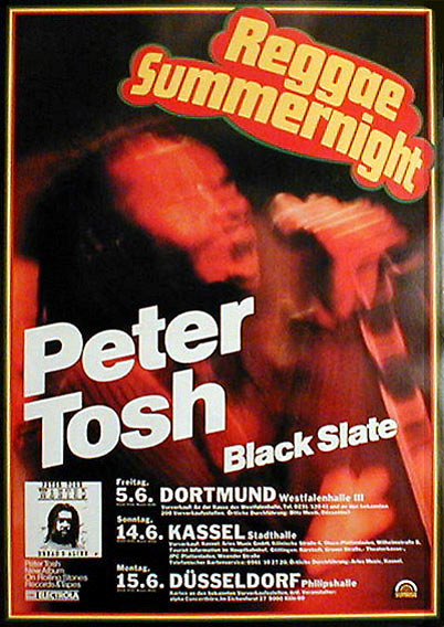 1981 peter poster reggae summernight germany dates with black slate
