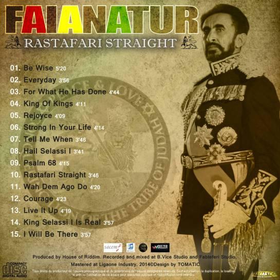 Faianatur Album Back Cover