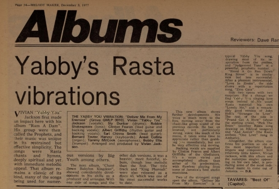 D R. Melody Maker (Dec 3, 1977)yabby%2Cyou-crop