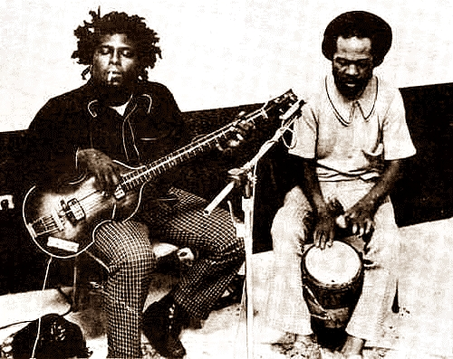 Robbie Shakespeare (l) and Yabby You (r)