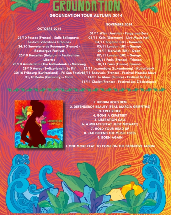 Groundation A Miracle Tour Date Autumn 2014