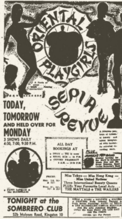 1965-04-10 Live with The Maytals , Sepia Revue, Sombrero Club, Kingston