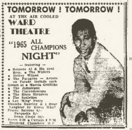 1965-09-27 All Champions Night Party , Ward Theater , Kingston , Jamaica