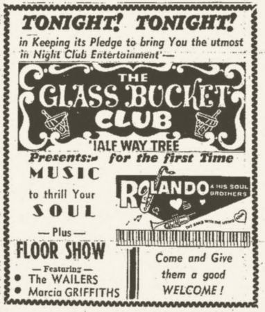 1965-10-09 Live With Marcia Griffiths, Roland Alphonso , The Glass Bucket Club