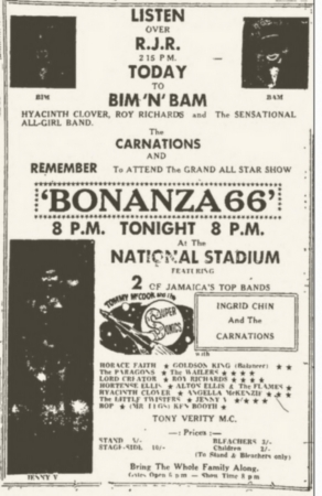 1966-01-02 Bonanza '66 , National Stadium , Kingston