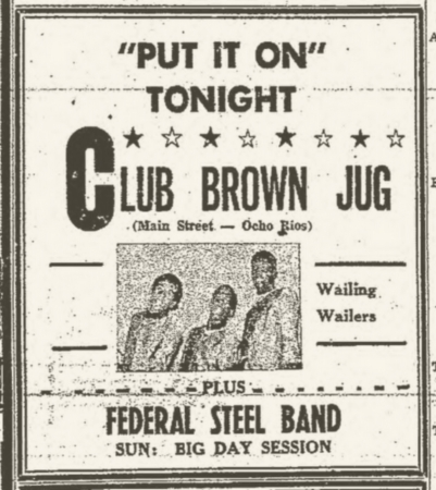 1966-07-28 Live Club Brown Jug, Main Street , Ocho Rios