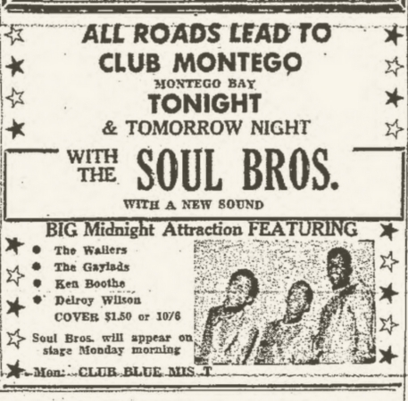 1966-07-30 Big Midnight Attraction, Club Montego, Montego Bay