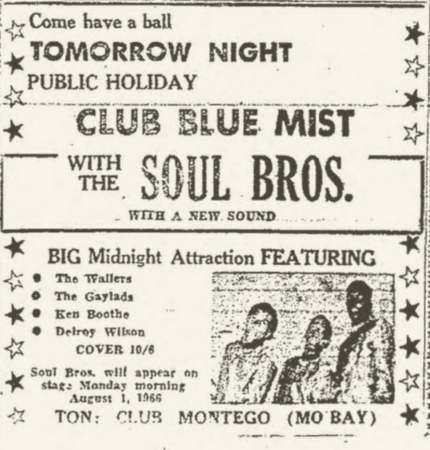 1966-08-01 Live with The Soul Brothers , Club Blue Mist, Montego Bay, Jamaica