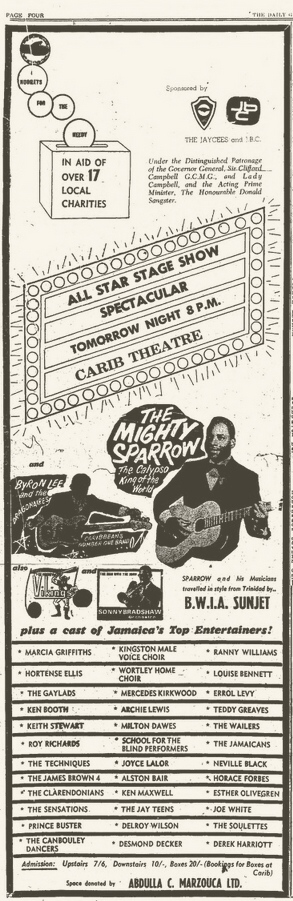 1966-12-13 Charity Concert , Carib Theater, Kingston