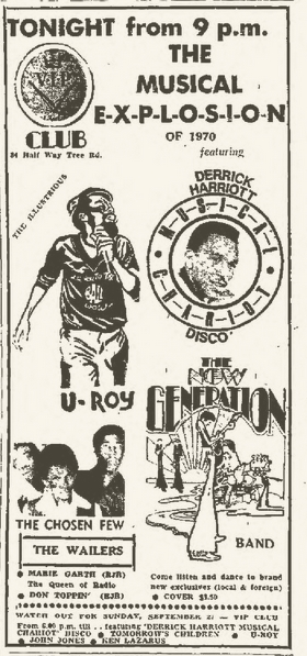 1970-09-19 Musical Explosion Of 1970 , The V.I.P Club , Kingston , Jamaica