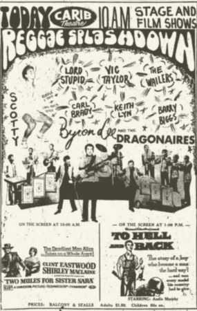 1971-01-01 Reggae Splashdown , Carib Theater, Kingston , Jamaica