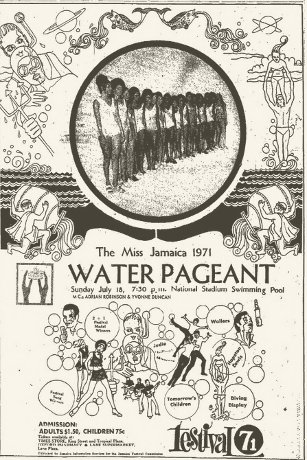 1971-07-18 Water Pageant, Miss Jamaica Contest 1971 , National Stadium Pool, Kingston , Jamaica