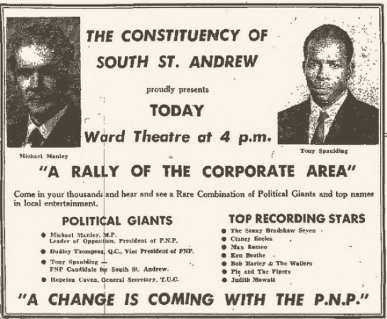1971-10-03 A Rally Of The Corporate Concert, Ward Theater, Kingston , Jamaica