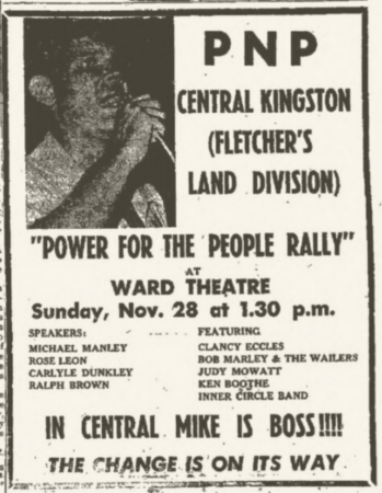 1971-11-28 Power To The People Rally, Ward Theater, Kingston , Jamaica