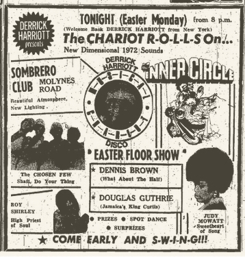 1972-04-03 Judy Mowatt , The Chariots Rolls On Party , Live Sombrero Club, Kingston, Jamaica