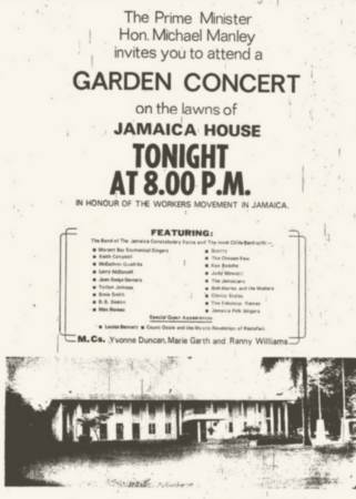 1972-05-23 Garden Concert, Jamaica House, Kingston