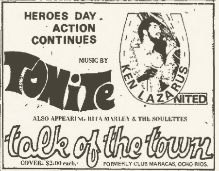 1972-10-16 The Soulettes , Talk Of The Town Party , Club Maracas, Ocho Rios
