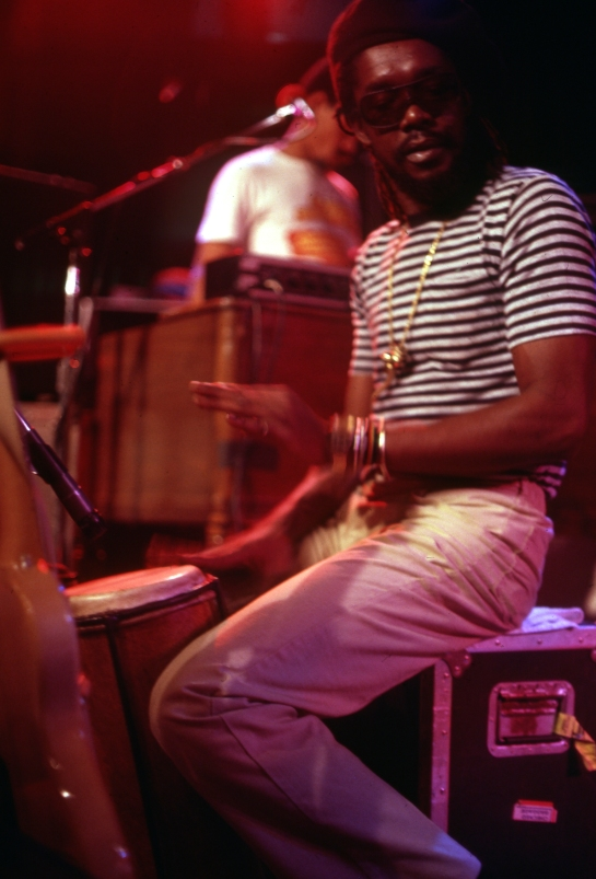 Peter Tosh soundcheck, The Roxy, Hollywood, 1983 (Photo:  Roger Steffens)