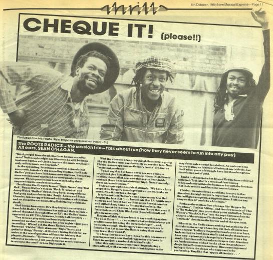 New Musical Express, October 6, 1984